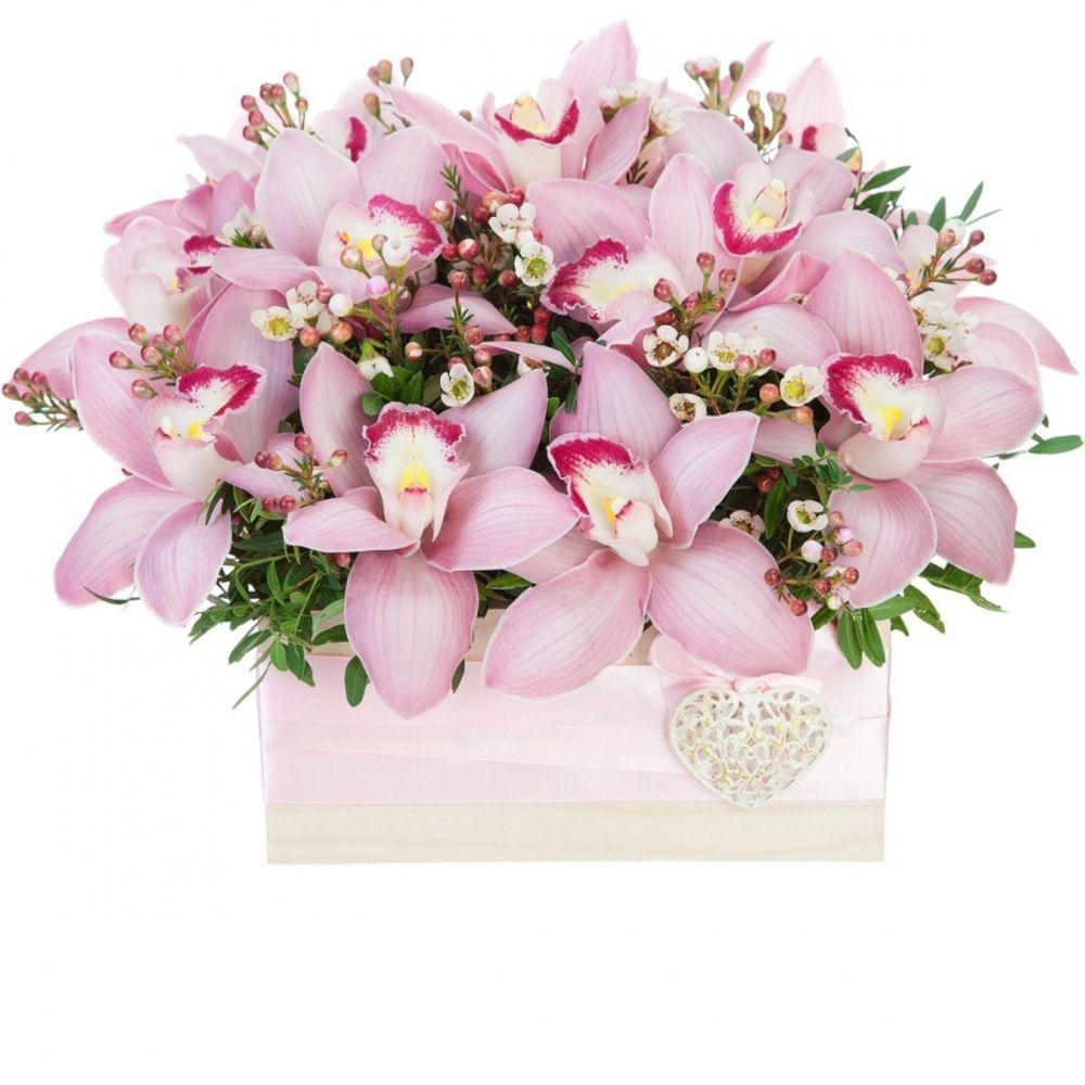 Купить букет с орхидеями фото