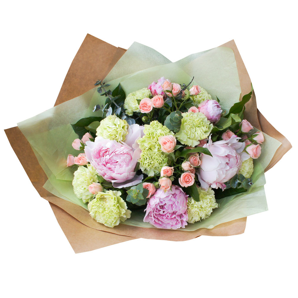 Недорогие букеты из пионов и роз фото, цветов лучший подарок